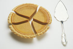 Pumpkin pie chart three stock photo