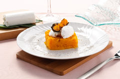Pumpkin pie with cheese fresh Stock Images