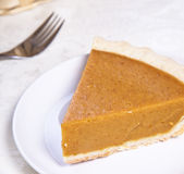 Pumpkin pie close up Royalty Free Stock Photo