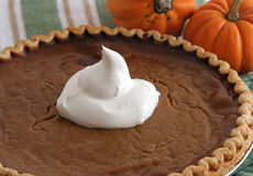 Pumpkin Pie - Closeup Stock Images