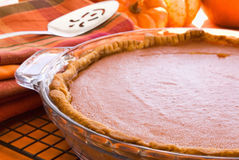 Pumpkin Pie Closeup Royalty Free Stock Photography