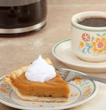 Pumpkin Pie and Coffee Royalty Free Stock Image