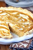 Pumpkin Cream Cheese Swirl Pie Stock Photo