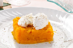 Pumpkin pie with fresh cheese Royalty Free Stock Photos
