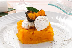 Pumpkin pie with fresh cheese Royalty Free Stock Image