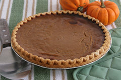 Pumpkin Pie - Fresh From Oven Royalty Free Stock Photo