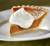 Pumpkin Pie. On green background Stock Photography