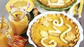 Pumpkin pie stock footage