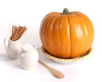 Pumpkin pie ingredients Stock Photography