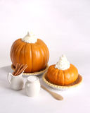 Pumpkin pie ingredients isolated on a white backgr Stock Image