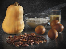 Pumpkin pie ingredients Royalty Free Stock Photo