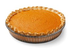 Pumpkin Pie. Pie Isolated White Background Food Full Length Dessert stock images
