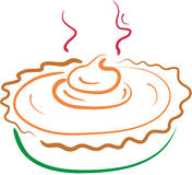 Pumpkin pie lineart Stock Image