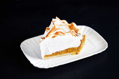 Pumpkin pie with meringue, american classic, thanksgiving Stock Photos