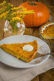 Pumpkin Pie and mimosa Stock Photos