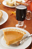 Pumpkin pie with mulled wine Stock Image