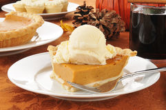Pumpkin pie with mulled wine Royalty Free Stock Image