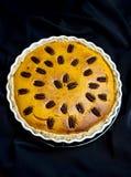 Pumpkin pie with pecan nuts Stock Photo
