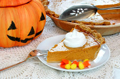 Pumpkin Pie and Pumpkin Royalty Free Stock Images