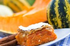 Pumpkin pie - pumpkin cake Stock Photography