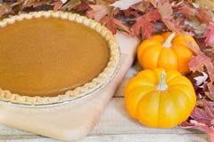 Pumpkin Pie and Pumpkins Royalty Free Stock Photos