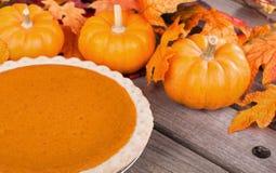 Pumpkin Pie and Pumpkins Royalty Free Stock Photo