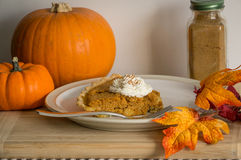 Pumpkin pie Stock Photos