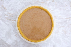 Pumpkin pie ready to be baked Royalty Free Stock Image