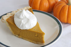 Pumpkin Pie Slice Royalty Free Stock Photo