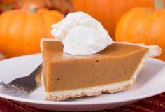 Pumpkin Pie Slice Closeup Stock Photography