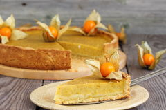 Pumpkin Pie. Slice With Fork stock photography