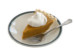 Pumpkin Pie Slice Isolated Royalty Free Stock Photos