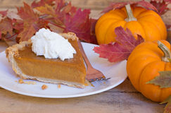 Pumpkin Pie Slice Royalty Free Stock Photos