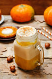 Pumpkin pie spice pumpkin latte. Toning. selective focus Royalty Free Stock Images