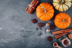 Pumpkin pie spice. Top view stock image