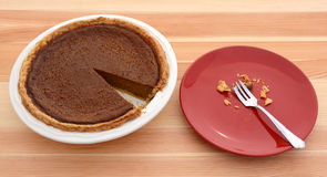 Pumpkin pie for Thanksgiving Royalty Free Stock Images