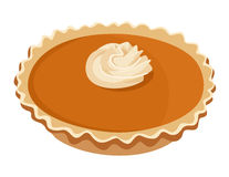 Pumpkin pie. Vector illustration. Stock Image