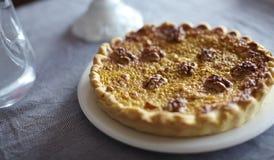 Pumpkin pie with walnuts Stock Image