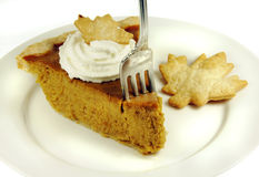 Pumpkin Pie with Whipped Cream Royalty Free Stock Photography