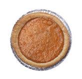 Pumpkin pie on white background. Pumpkin pie isolated on white background stock photo