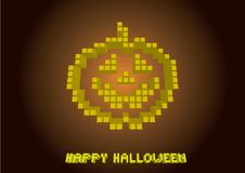 Pumpkin in pixels Stock Image