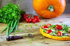Pumpkin pizza Royalty Free Stock Photography