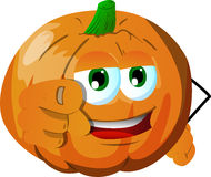 Pumpkin pointing at viewer Stock Images