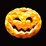 Pumpkin polygon Royalty Free Stock Photo