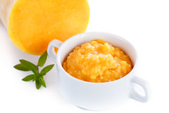 Pumpkin porridge in a bowl Stock Photography