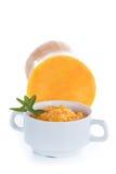 Pumpkin porridge in a bowl Stock Photos