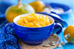 Pumpkin porridge Stock Photos