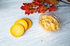 Pumpkin porridge. With rice near the pumpkin's slices Royalty Free Stock Photos