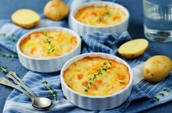 Pumpkin potato gratin Stock Photos