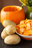 Pumpkin And Potatoes Royalty Free Stock Photos
